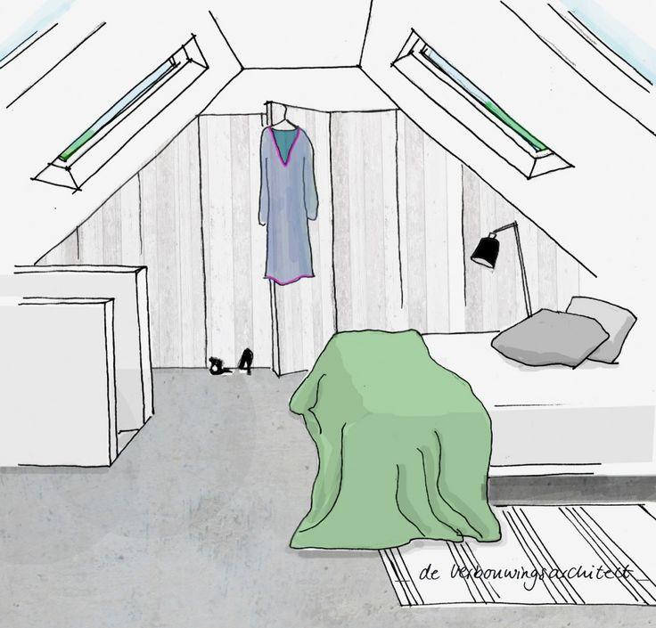 Van zolder tot slaapkamer: 5 tips   Stek Magazine   Lisette Schoenmaker: De Verbouwingsarchitect   Woonideeën   Verbouwen   Interior