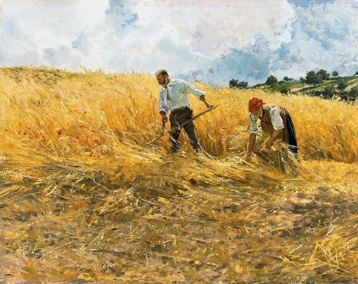 Friedrich Kallmorgen - The Harvest by Gandalf Via Flickr: Friedrich Kallmorgen (Altona, November 15, 1856 - Grötzingen, June 2, 1924) was a german painter. [Alte und Neue Nationalgalerie, Berlin - Oil on canvas]