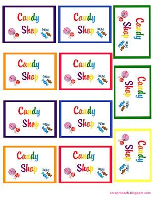 free Rainbow candyland printable
