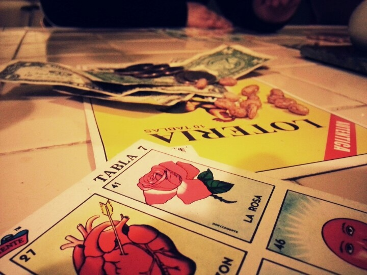 Loteria-play for money or tequila shots :-)