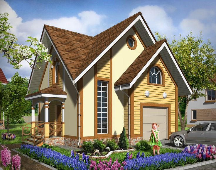 House plan by AkvilonPro: ''JACINTH'' 77 sq.m One-storey