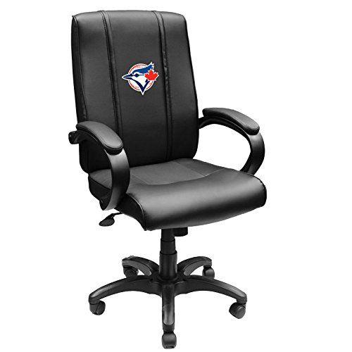 XZipit MLB Office Chair with Toronto Blue Jays Secondary Logo Panel, Black…