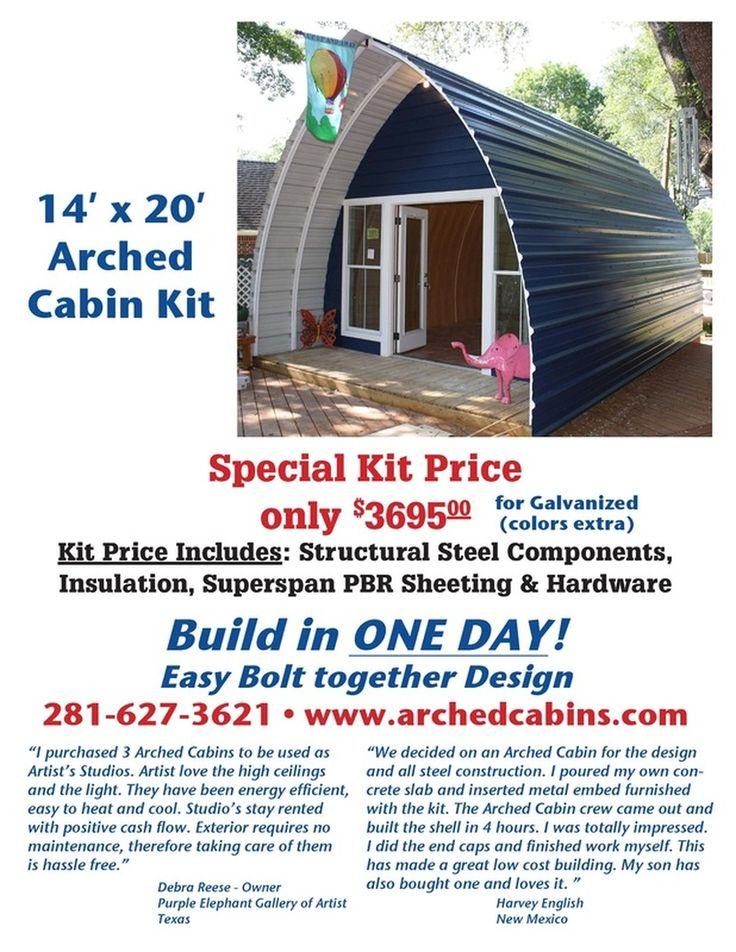 Don't know how long the special price lasts, but this is a decent alternative to building your own tiny home.