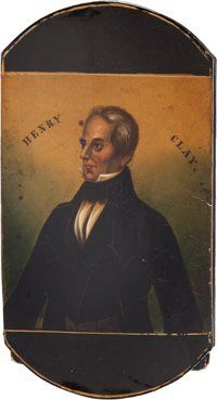 Henry Clay: A Spectacular, Virtually Mint Glasses or Stogie Case, with an Unusual Portrait