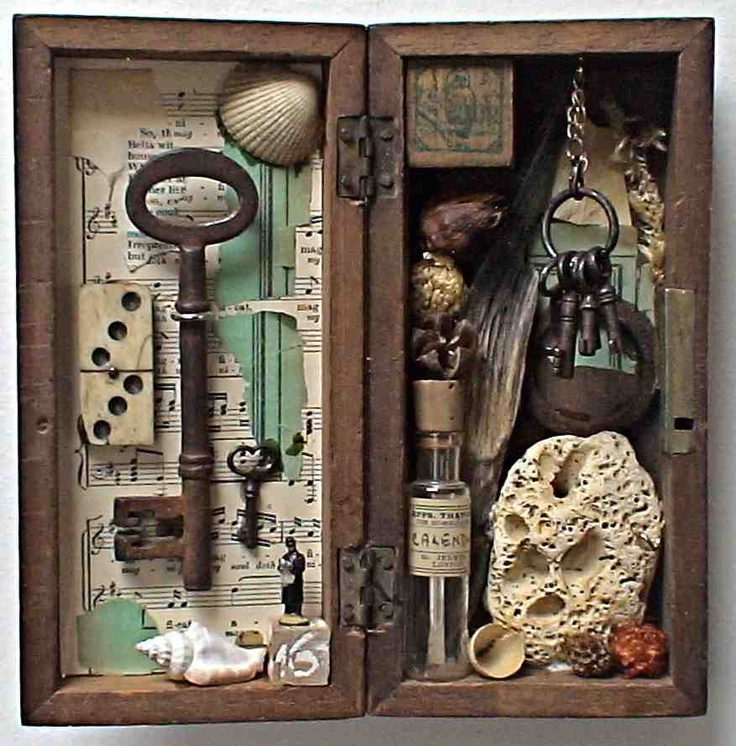 Not really a dollhouse, but I love the idea of using a wooden box to create a vignette or even a scene. Gotta try this!