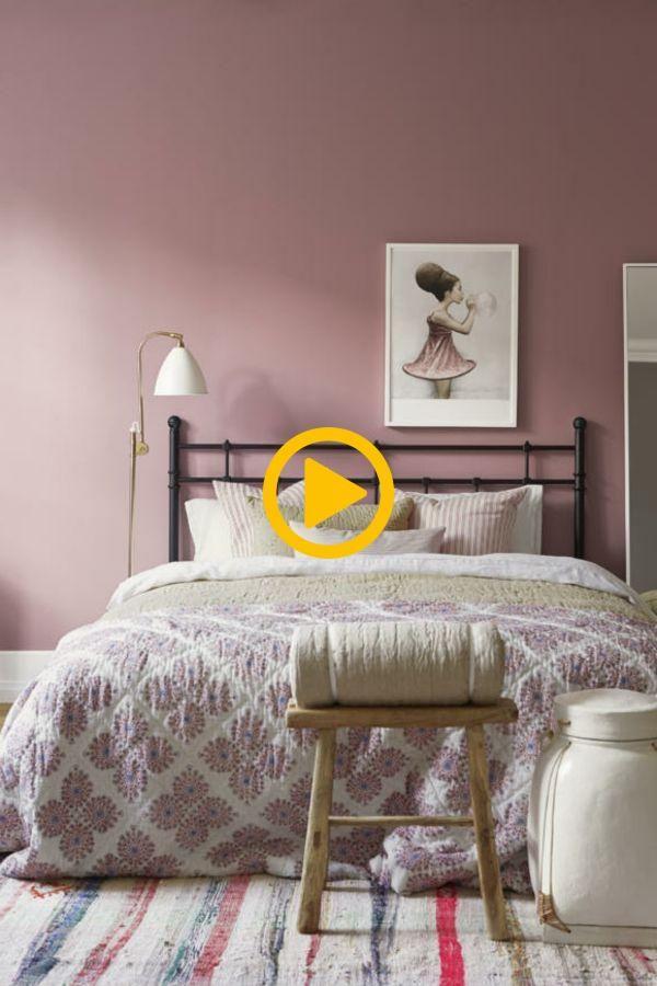 Altrosa Wandfarbe Fur Die Vintage Wandgestaltung Im Schlafzimmer