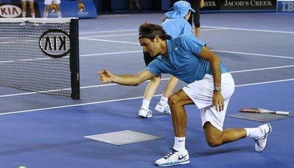 Roger Federer la Kid's Day la Australian Open