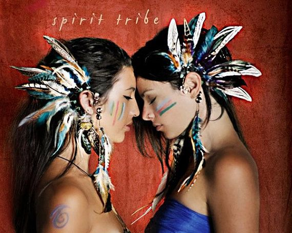 Wild child tribal feather ear cuff by SpiritTribe, via Etsy.