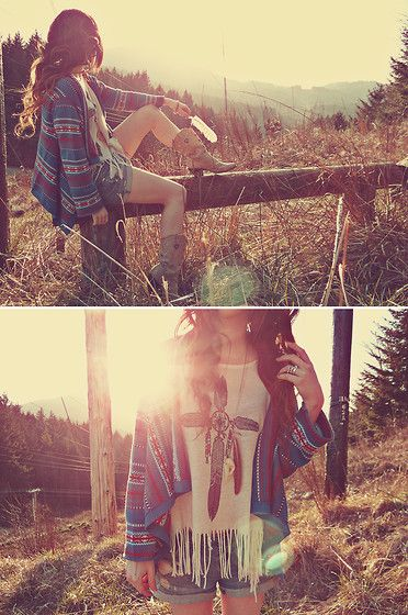 boho.: Hipster Fashion, Summer Fashion, Boho Chic, Durango Boots, Fashion Style, Country Girls, Summer Outfits, Summer Clothing, The Cardigans