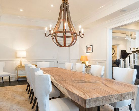 24 stunning dining rooms with chandeliers rustic wood dining tablecontemporary - Dining Table Design Ideas