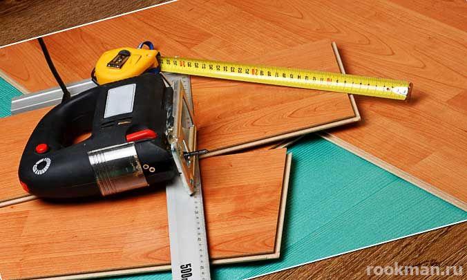 Подробное описание процесса монтажа ламината в домашних условиях