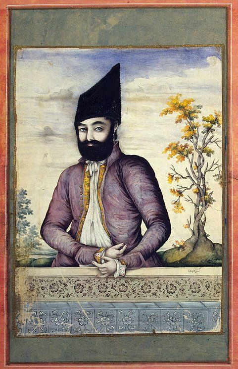 Portrait-of-a-Man.jpg (481×745) Author: Sayyd Mirza Portraiture, Miniatures, Gouache, 21.8x15.7 cm Origin: Iran, Circa 1830 Source of entry: The Historical and Linguistic Institute, Leningrad, 1933