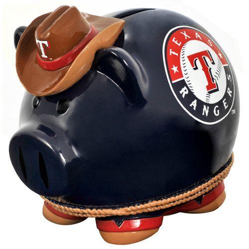Texas Rangers MLB Team Thematic Piggy Bank (Small)