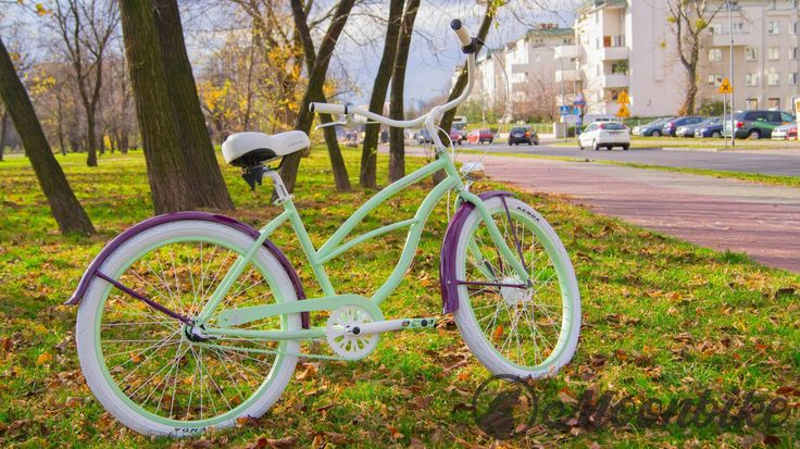 #bikes #moonbikes #bike #cute #brown #blue #mint #violet
