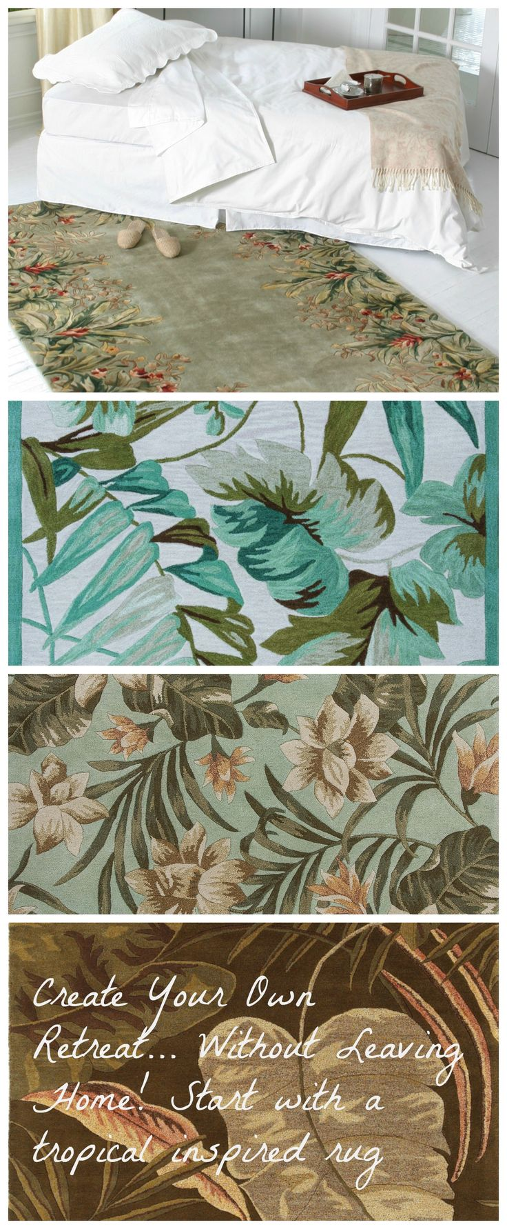 Beach Inspired Rugs Part - 34: Right On Trend - A Tropical Retreat, Beginning With A Fabulous Island Inspired  Rug!