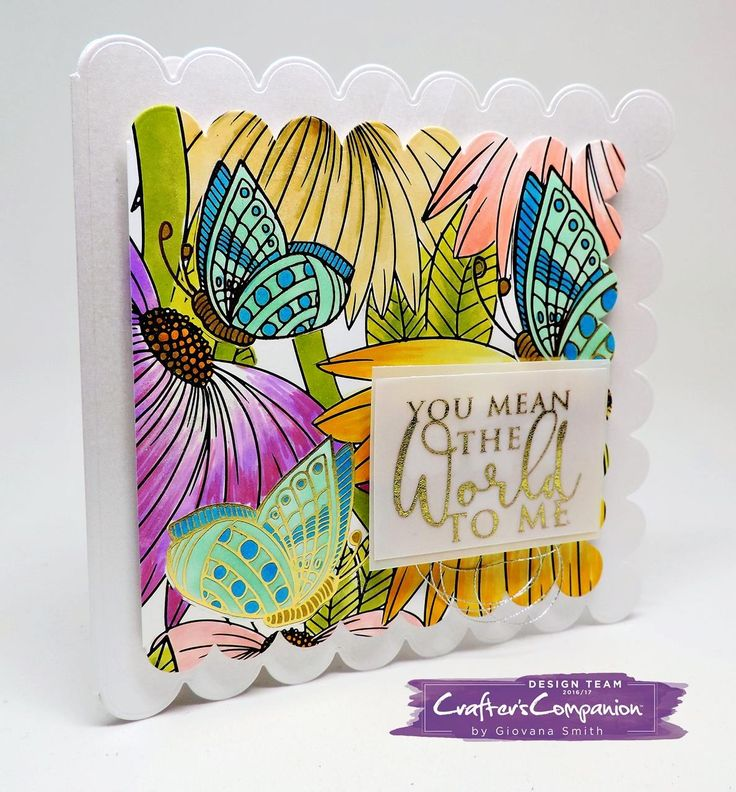 #Card base created with dies from #crafterscompanion and the image is #spectrumnoircolorista coloring pad!