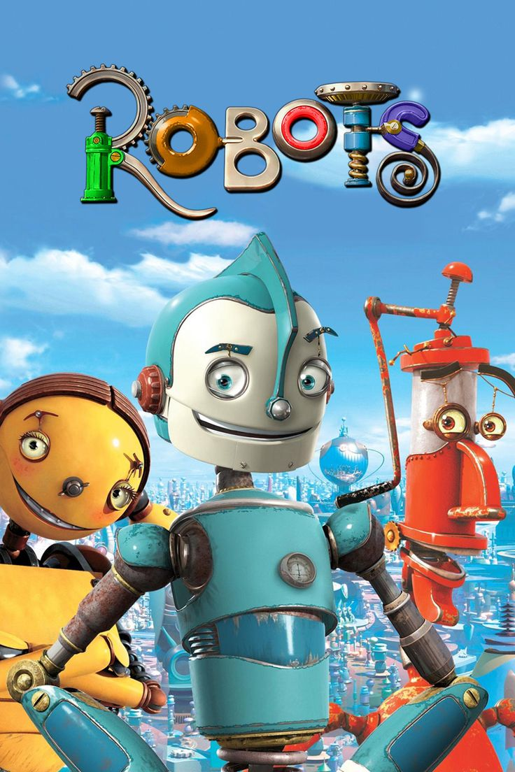 Movie Robots (2005) created by Chris Wedge as made lots different of robots using with stuff.