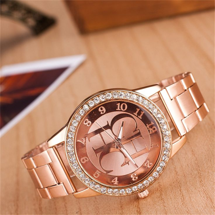 Watches Women Fashion Luxury Brand Ladies Gold Steel Quartz Watch Casual Crystal Rhinestone Wristwatches - free shipping worldwide