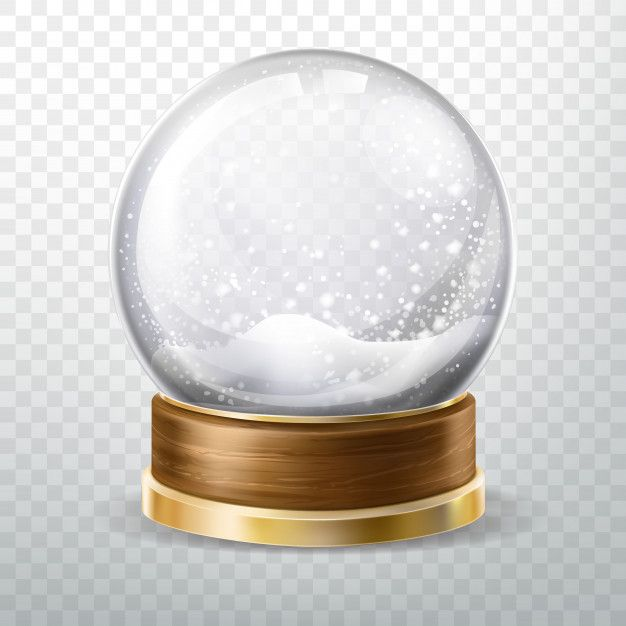 Download Realistic Crystal Globe Set With Fallen Snow For Free Vector Free Snow Globes Purple Lighting