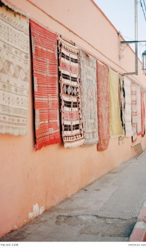 Traditional tapestries in Morocco. Photography: The Wedding Day Photography   Accommodation: Riad Nora Morocco  