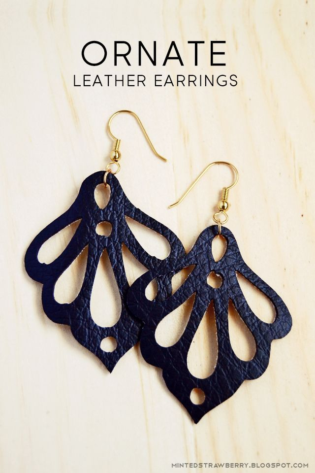 nice DIY: Ornate Faux Leather Earrings using the Silhouette Curio