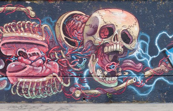Follow the link for a shot of the full mural by nychos http://www.juxtapoz.com/Street-Art/nychoss-floating-human-anatomy-mural#