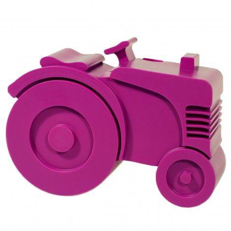 Matboks i plast, Traktor (lilla) 169 kr
