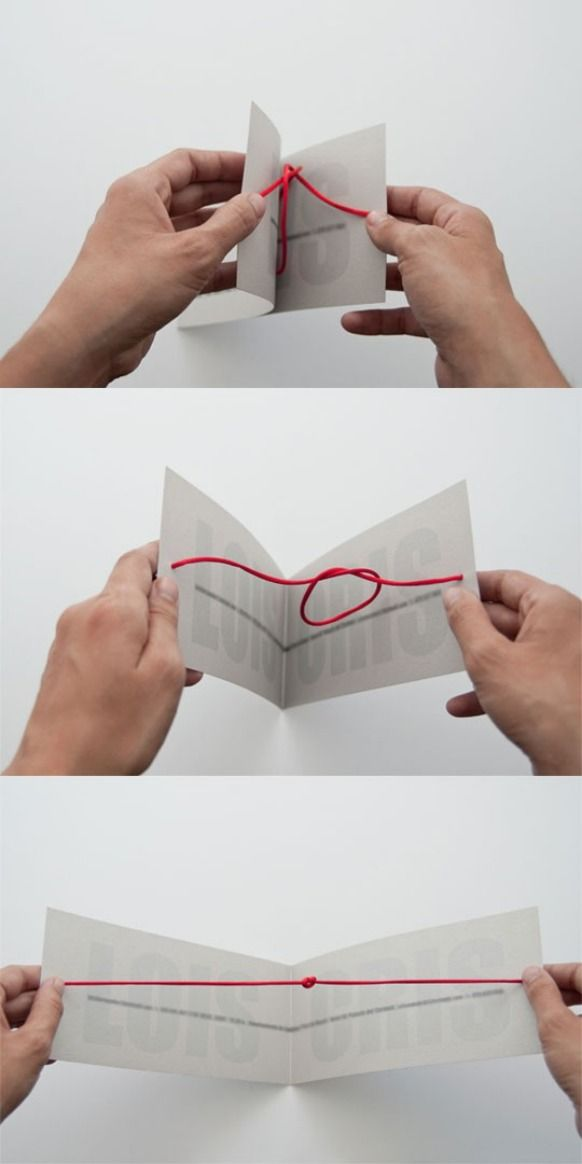 "save the date cards that ""tie the knot"" when you open them."