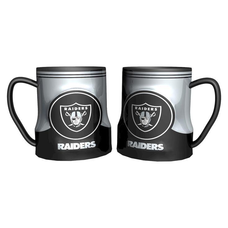 Oakland Raiders Boelter Brands 2 Pack Game Time Mug 20 oz, Black
