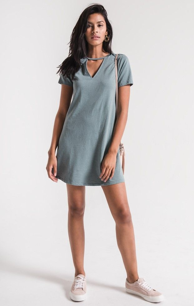 2798610be2 A front V-cutout t-shirt dress for dressing up or down. Get effortless  style in our cutout T-shirt dress. Shop Z SUPPLY dresses here!