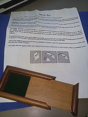 Rare Rattle Box Early Design Walnut Lined Vanishing Coin Magic Trick Collectibles:Fantasy, Mythical & Magic:Magic:Tricks www.webrummage.com $29.99