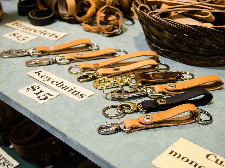 Leather key fobs, Daniel Walling