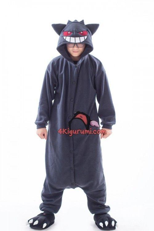 cool gengar, gengar kigurumi, gengar costume, gengar pajamas, gengar onesie, pokemon kigurumi, pokemon, pokemon onesie