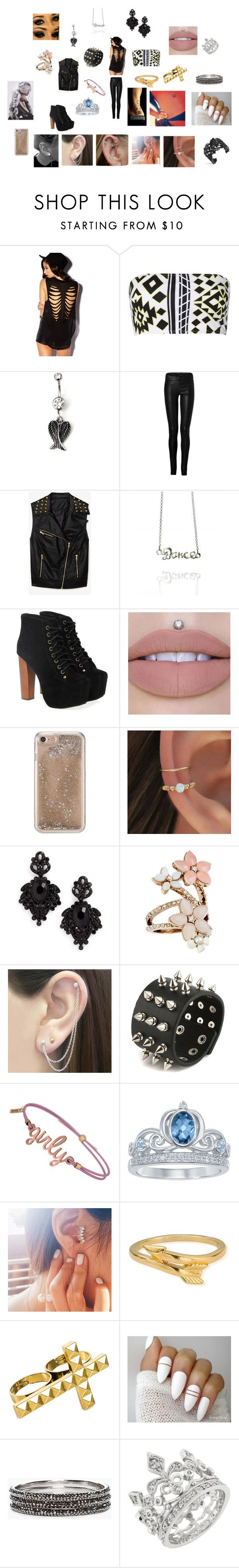 """""""Untitled #46"""" by megan13-02 on Polyvore featuring Forever 21, Jane Norman, Ventcouvert, Jeffrey Campbell, Agent 18, Tasha, Accessorize, Otis Jaxon, Disney and ChloBo"""