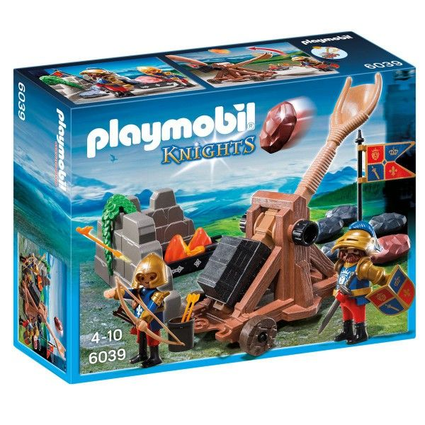 Chevaliers du lion impérial et catapulte PLAYMOBIL KNIGHTS - 6039 – La Grande Récré : vente de jouets et jeux Playmobil