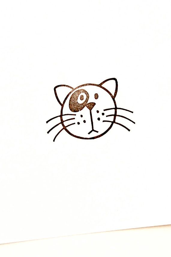 Cat rubber stamp, Fat cat, cute animal, pet stamp, crazy cat lady, cat birthday gift, best friend gift, cat lover gift