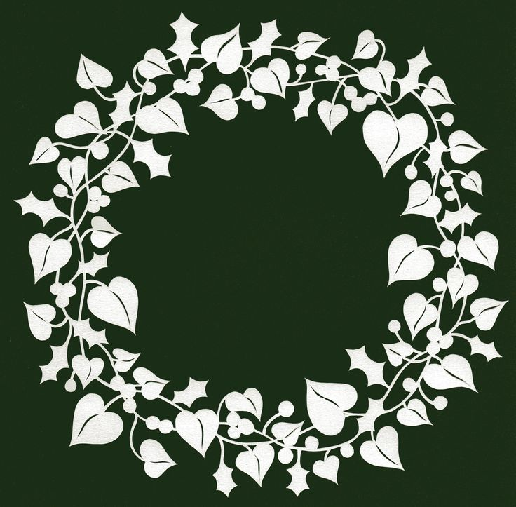 holly and ivy papercut wreath