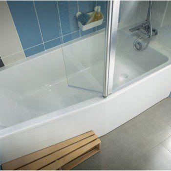 Baignoire L.160x l.85 cm, JACOB DELAFON Sofa bain et douche, vidage à droite | Leroy Merlin