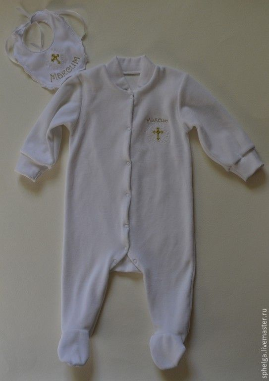 Купить Именной костюм для крещения, первого причастия - костюм для девочки, костюм для мальчика, костюм на выписку