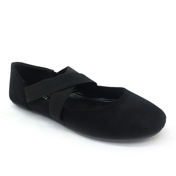 Comfy Soles Black Crossover Reversal Flat ($9.99) ❤ liked on Polyvore featuring shoes, flats, black mary janes, kohl shoes, black mary jane flats, mary jane shoes and synthetic shoes
