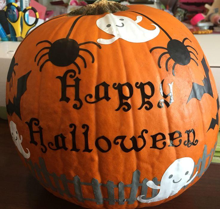 Cricut No Carve Pumpkin The Cricut Chirp Pumpkin