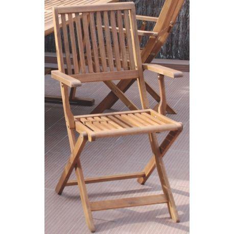 Silla de jardin plegable con brazos,sillas jardin, de terraza y balcon, sillones terraza y jardin, sillas exterior a precios baratos | Ferreteria online