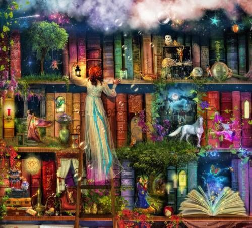 minga2glo:  The magical world of books