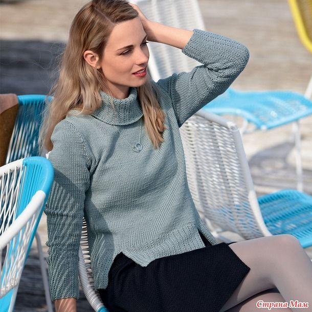 Акцент в этом элегантном свитере сделан на широкой фигурной резинке и разрезах на нижней планке. РАЗМЕРЫ 36/38 (40/42) 44/46 ВАМ ПОТРЕБУЕТСЯ