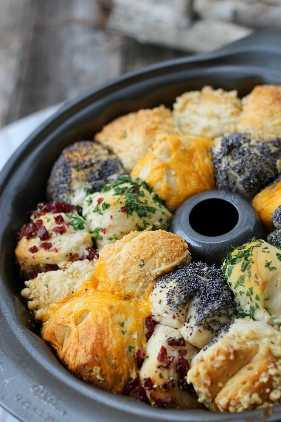 Savory Monkey Bread by goodinnermom: Made with refrigerated canister biscuits and any herb and cheese combination that fits your menu. #Monkey_Bread #Easy