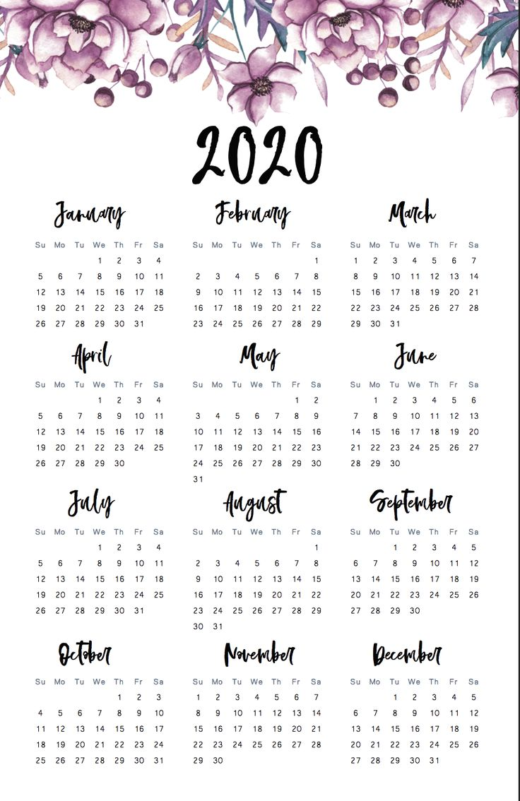 calendar 2020 aesthetic - Google Search in 2020 | Print ...