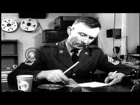 ▶ Lieutenant Colonel Robert Cranston at AFN (American Forces Network) radio station...HD Stock Footage - YouTube