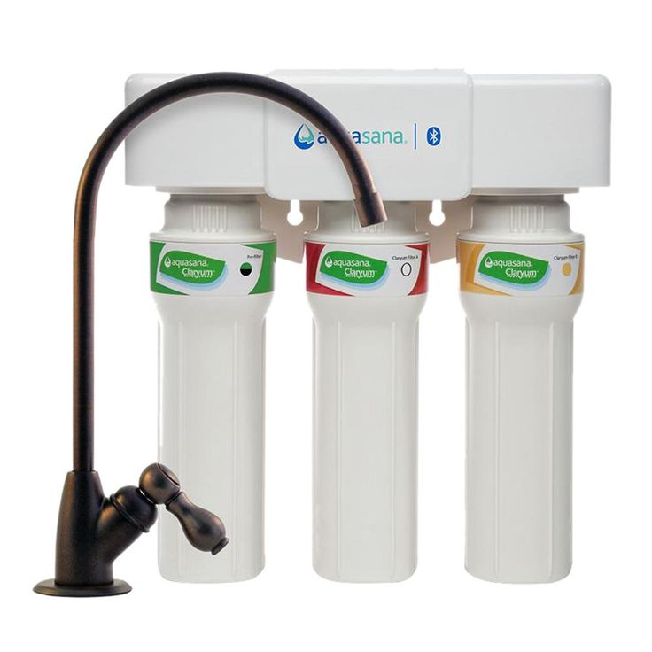 3-Stage Max Flow Under Counter Water Filtration System with Faucet in Oil Rubbed Bronze, Bluetooth Compatible