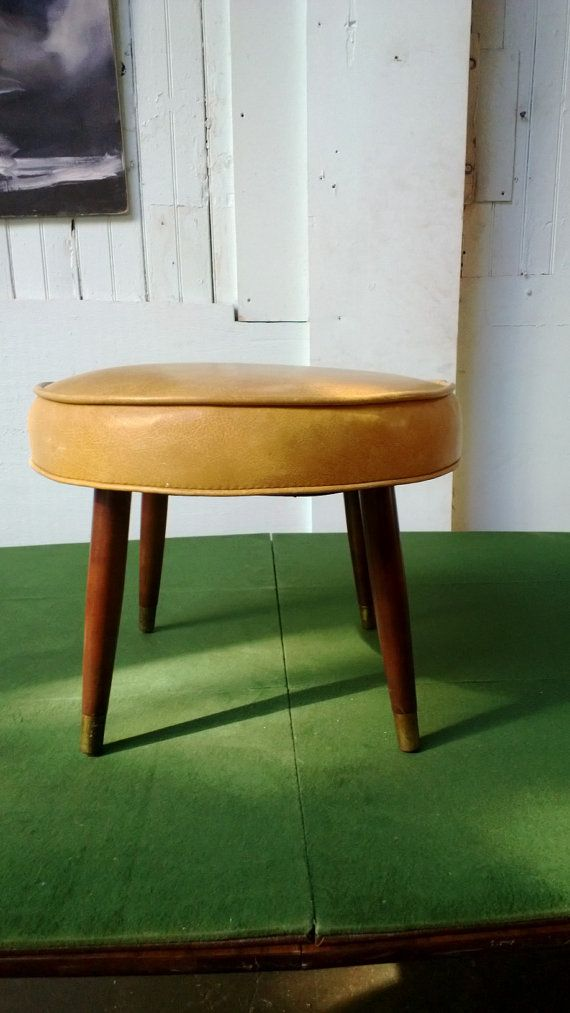 Vintage Ottoman, Mid Century Modern Foot Stool, Atomic Age Furniture, Mad  Men,