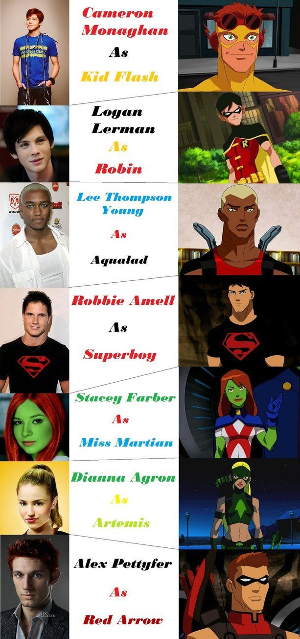 Young Justice Fan | Young Justice Fan Cast by RemusLupinGirl